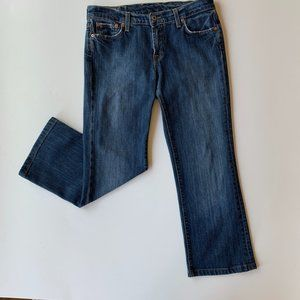 Lucky Brand Med Wash MidRise STRETCH Crop Jeans 29